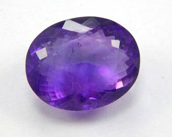 Beautiful mesmerizing 34.15 CT Natural Purple Amethyst loose gemstone faceted oval shape 18x23x12 mm at best cost