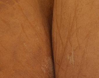 """Grunge Heavy Mesquite Brown Leather Cowhide 12"""" x 12"""" Pre-cut 7-8 ounces DE-64783 (Sec. 5,Shelf 7,C)"""