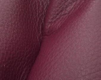 "Royal Plum Purple Leather New Zealand Deer Hide 4"" x 6"" Pre-cut 3-3 1/2 oz -11 DE-66110 (Sec. 3,Shelf 5,A,Box 3)"