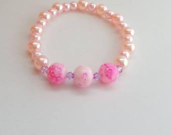 Kawaii bracelet, kawaii jewelry, cute bracelet, cute jewelry, mum jewelry, mum bracelet, pink bracelet, stretchy bracelet, gifts for her
