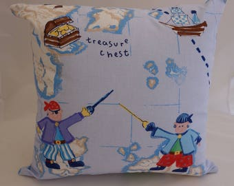 Pillow - Pirates design feature cushion, complete with cushion pad, zip fastening