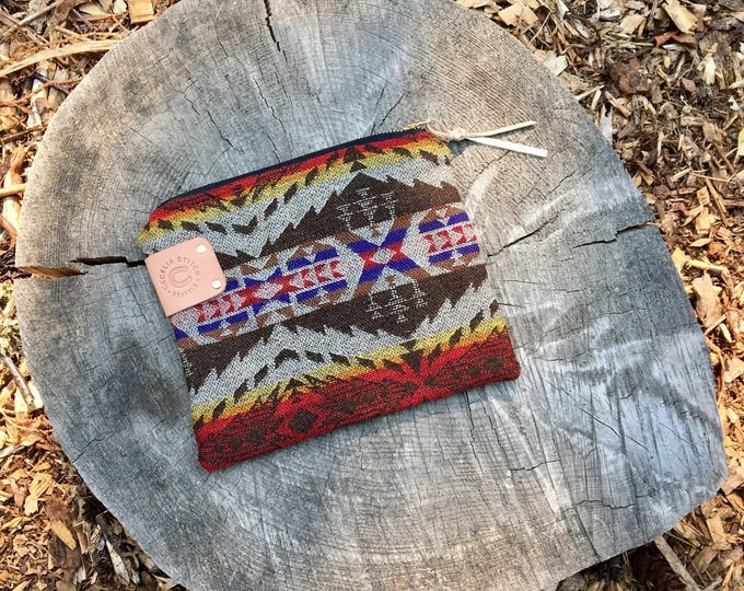 Pendleton/Leather Clutch FREE SHIPPING