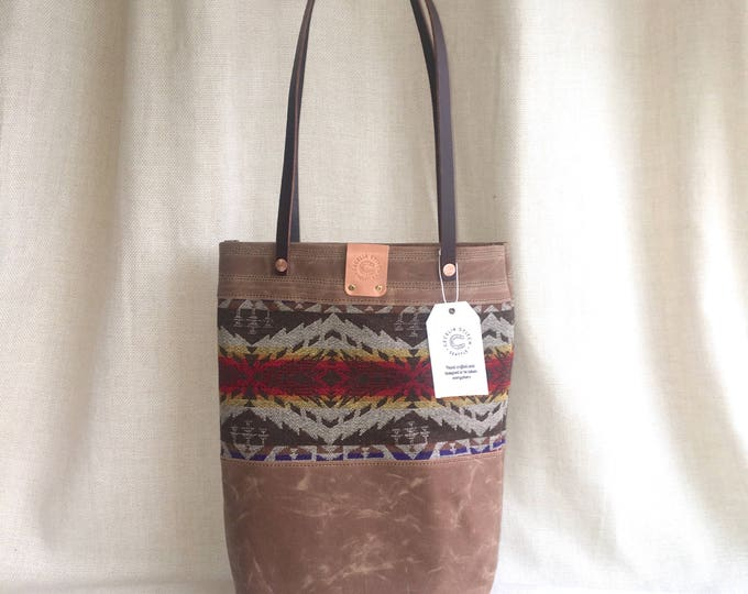 Pendleton & waxed canvas shoulder bag - FREE SHIPPING