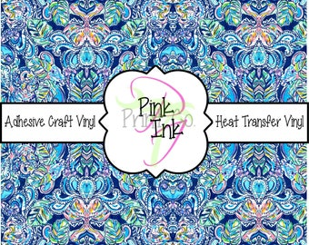 Beautiful Patterned Craft Vinyl and Heat Transfer Vinyl Pattern 656