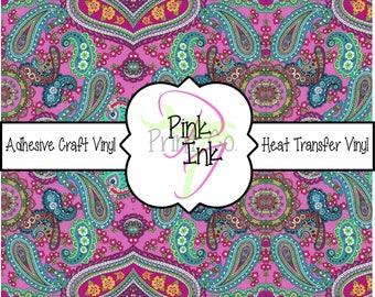 Beautiful Paisley Craft Vinyl and Heat Transfer Vinyl Pattern 442