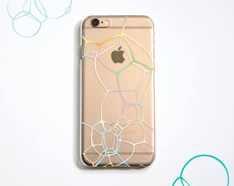 The colourful bubble pattern phone case, for iPhone, Samsung