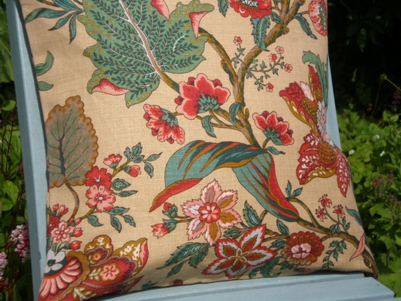 Vintage Floral  Fabric Cushion Cover