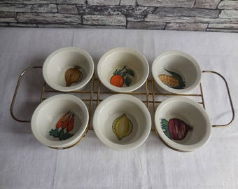 Vintage  Entree dish set / snack set by Villroy Boch made in Luxembourg
