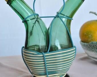 Glass bottles for oil and vinegar vintage years ' 60