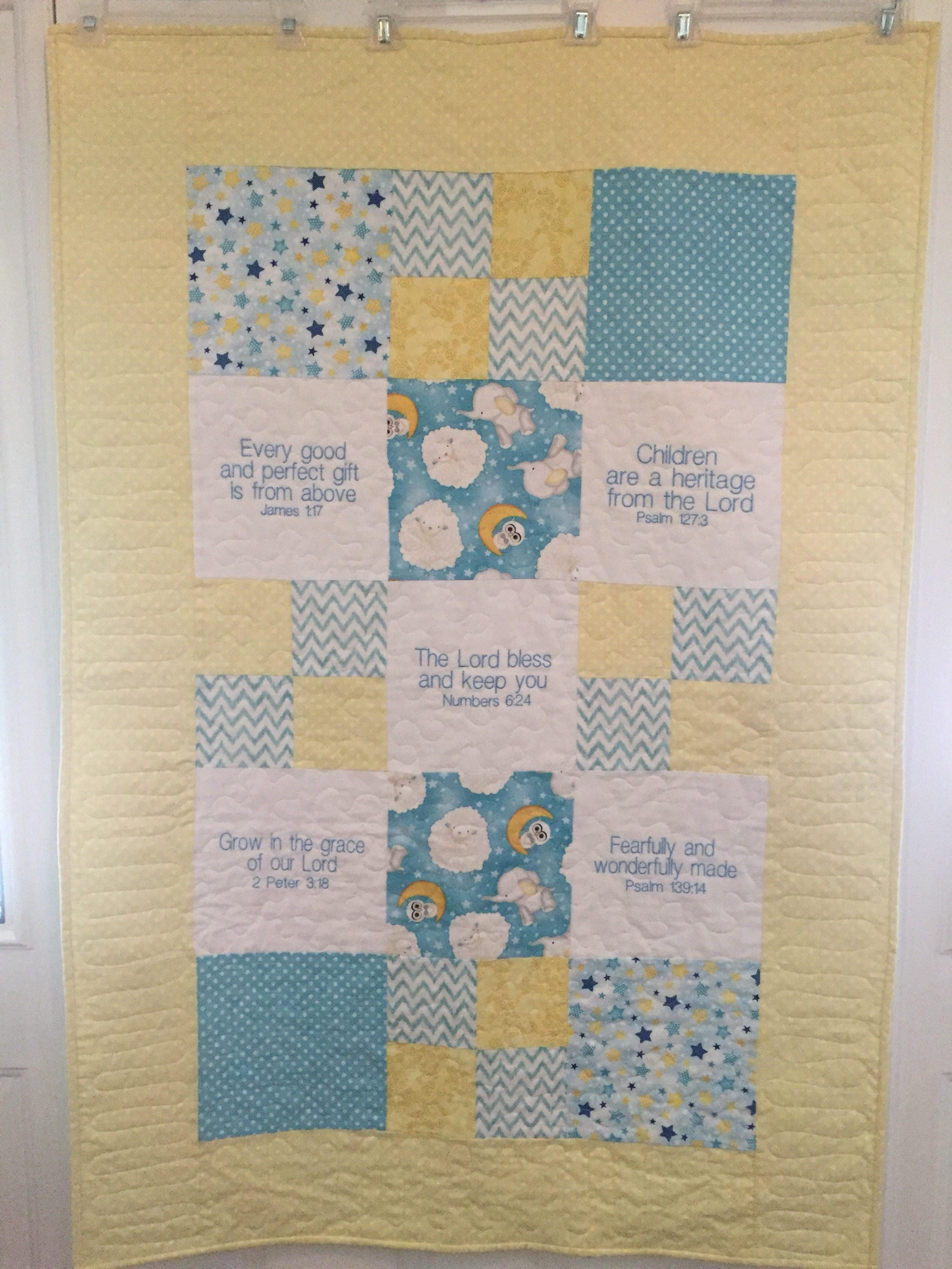 Yellow and blue baby quilt : blue baby quilt - Adamdwight.com
