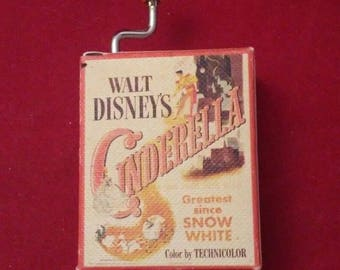 vintage Disney Music Box Cinderella A Dream is a Wish Your Heart Makes 1948