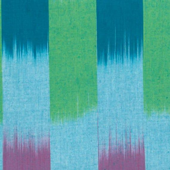 IKAT STRIPE Ocean Green Blue ARTISAN Kaffe Fassett Sold in 1/2 yd increments