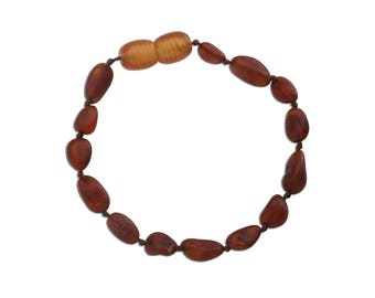 Genuine Baltic Amber Teething Bracelet (ATBU-Dark Cognac)