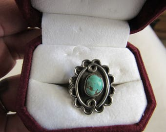 Vintage Navajo Sterling and Silver Ring Size 6