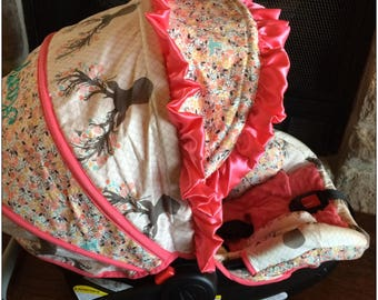 4 PC Custom Infant Car Seat Cover, Boutique Infant Car Seat Cover, Baby Carrier Cover, Baby Car Seat Cover, Baby Carrier
