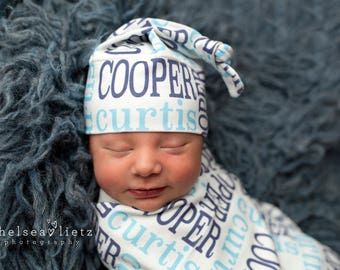 Personalized Baby Blanket  Organic Swaddle Blanket Name Swaddle Going Home Baby Monogrammed Blanket Photo Prop Baby Shower