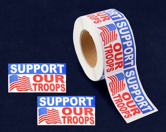 250 Support Our Troops Stickers (250 Stickers) (ST-25-PT)