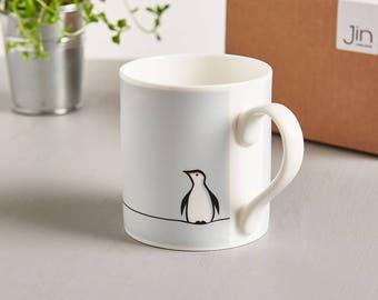 Penguin Mug, Fine Bone China Mug, Boxed, Gift for Penguin Lovers