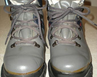 Vintage 70's Women's Merrell West Wind Thinsulate 3-pin Cross Country Ski Boots Size 6