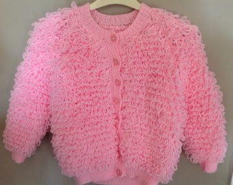 Hand Knitted Loopy cardigan