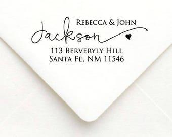 Personalized Self Inking Return Address Stamp - self inking address stamp - Custom Rubber Stamp, wedding address stamp A59