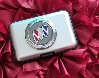 Credit Card Case RFID Wallet Genuine Buick Emblem