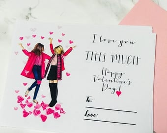 PRINTABLE Valentine's Day Card (Instant Download, Valentine's Day, Galentine, Vday, For Her, Valentine's Day Card)