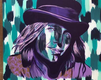 Tom Petty Canvas Painting