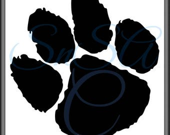 Paw SVG Animal Tiger Leopard Cat Bear Cougar Lion Footprint Tree School Team Game Mascot Jersey Shirt Mug Glass Sign Cricut Shirt 17 Decal.