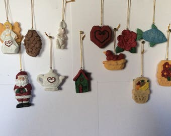 Collection of 12 Resin Ornaments