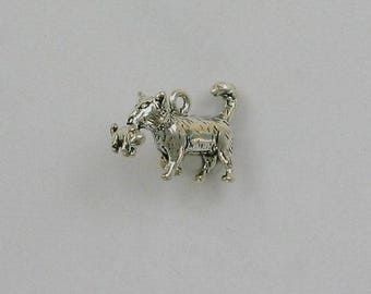 Sterling Silver 3-D Cat with Kitten Charm