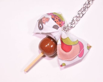 Chocolate toffee Apple pendant