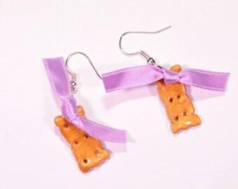 Cookie earrings violet