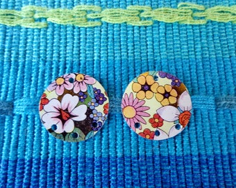 Tin findings, Tin, Findings, Focals, Craft supplies, Earring components, Jewelry making, Vintage tin, Floral tin, Recycled tin, Tin Jewelry