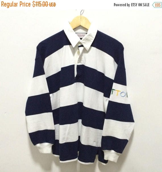 MEGA SALE 25% Benetton Rugby Shirt Vintage Benetton Spellout United Colors of Benetton Polo Rugby Shirt Rare h5RCjG