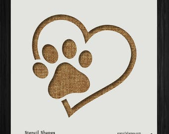 It is a photo of Agile Dog Paw Print Stencil Printable Free