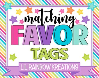 ADD ON: Favor Tags or Stickers To Match You Theme