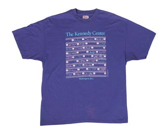 Vintage The Kennedy Center Washington DC Purple T-Shirt XL JFK Center for the Performing Arts