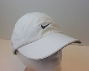90s Nike white hat cap sports vintage strap dad hat