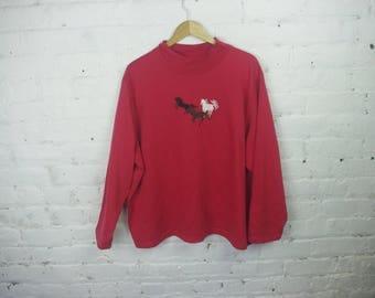 Horse Crewneck 90s sweatshirt vintage retro long sleeve