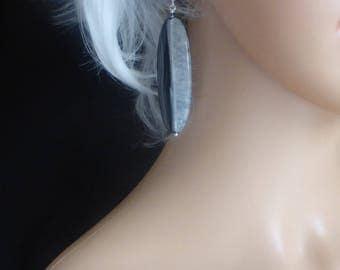 Splendid Long Agate Earrings