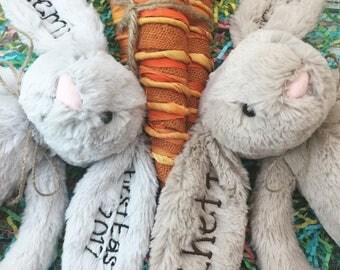 Personalized Gift, Personalized Stuffed Animal, Baby Gift, Personalized Bunny, Personalized Jellycat Bunny Rabbit, Monogrammed Bunny