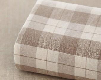 150 cm / 59 inch Width, Classic Style  Plaid / Check Pattern Cotton Fabric, Half Yard