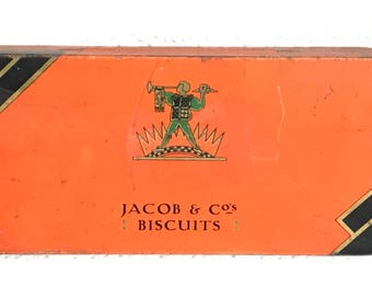 Jacob & Co's Biscuits Vintage Advertising Tin