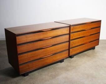 Stunning Set of Two Matching Mid-Century Dressers by John Kapel for Glenn of California