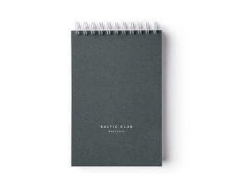 """Sage Notebook  – Spiral binding – 4"""" x 6"""" – Ruled pages"""