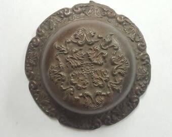 Mechanical Doorbell, Cast Iron, Decorative Vintage Bell E0051