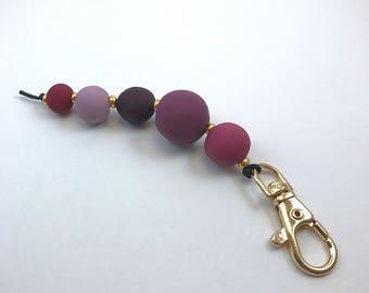 Ripened Berry Beaded Keychain | Unique Handmade Jewelry