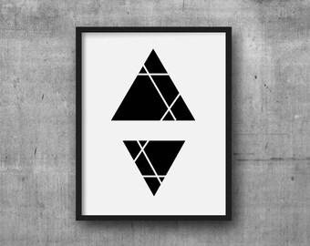 Black white abstract etsy for Minimal art venezuela