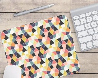 ON SALE: Geometric Mouse Pad, Retro Mouse Pad, Patterned Mouse Pad, Geometric Coaster, Retro Coaster (0020)